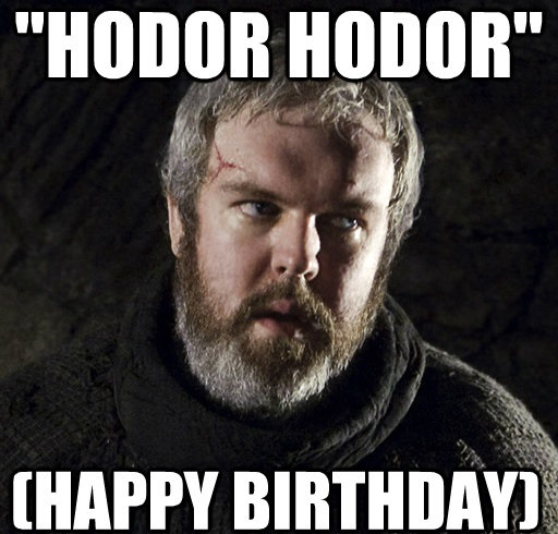 game of thrones birthday meme