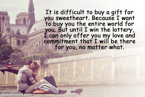Abroad message going for boyfriend Sweet Love
